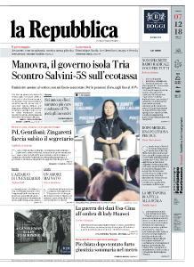 la Repubblica - 7 Dicembre 2018