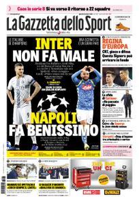 La Gazzetta dello Sport Roma – 25 ottobre 2018