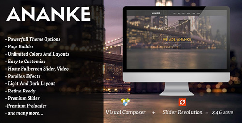 ThemeForest - Ananke v2.0 - One Page Parallax WordPress Theme