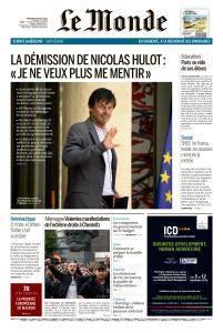 Le Monde du Mercredi 29 Août 2018