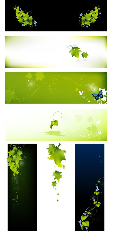 Leafy banners