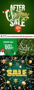 Vectors - Green Christmas Sale Backgrounds 2