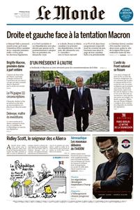 Le Monde du Mercredi 10 Mai 2017