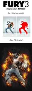 GraphicRiver Fury 3 Photoshop Action