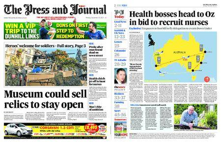 The Press and Journal Moray – September 25, 2017