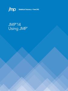 JMP 14 : Using JMP