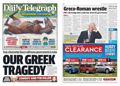 The Daily Telegraph (Sydney) – November 07, 2017