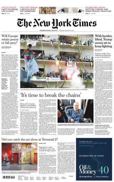 International New York Times - 26 March 2019