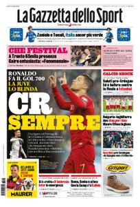 La Gazzetta dello Sport Roma – 15 ottobre 2019