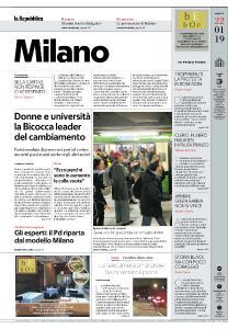 la Repubblica Milano - 22 Gennaio 2019