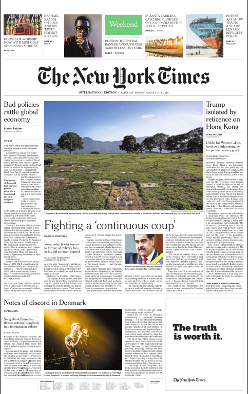 International New York Times - 17 August 2019