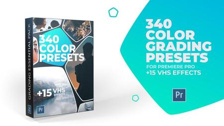 340 Cinematic Color Presets + 15 VHS Video Effects (VideoHive) 24589977