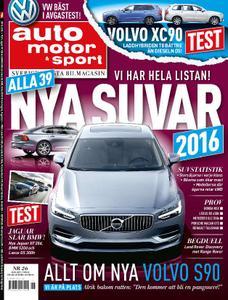 Auto Motor & Sport Sverige – 09 december 2015