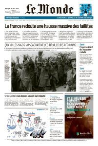 Le Monde du Mercredi 17 Juin 2020