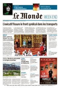 Le Monde du Samedi 21 Décembre 2019