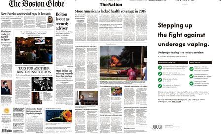 The Boston Globe – September 11, 2019
