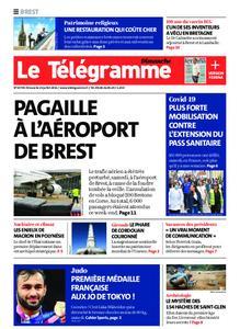 Le Télégramme Brest Abers Iroise – 25 juillet 2021