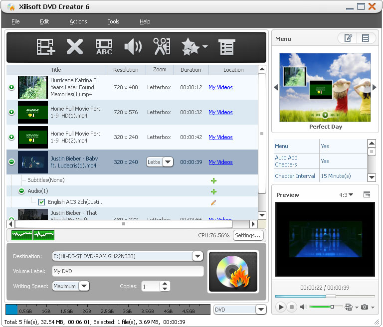 Xilisoft DVD Creator 6.2.3.0622 + Rus