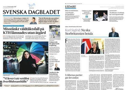 Svenska Dagbladet – 13 november 2017