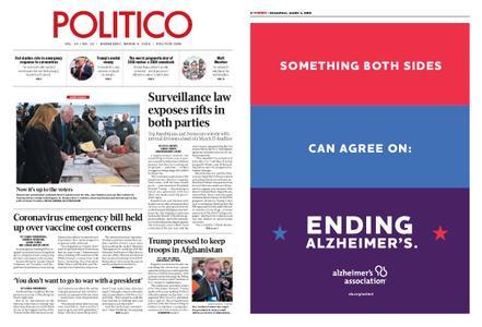 Politico – March 04, 2020