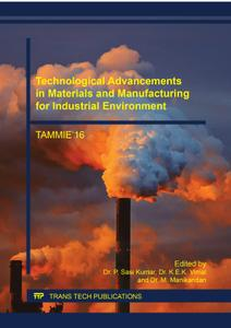 Technological Advancements in Materials and Manufacturing for Industrial Environment (Applied Mechanics and Materials)