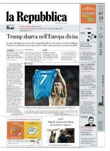 la Repubblica - 11 Luglio 2018