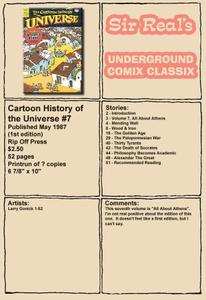 Cartoon History of the Universe 07 1st Edition 1987 Rip Off Press Sir Real