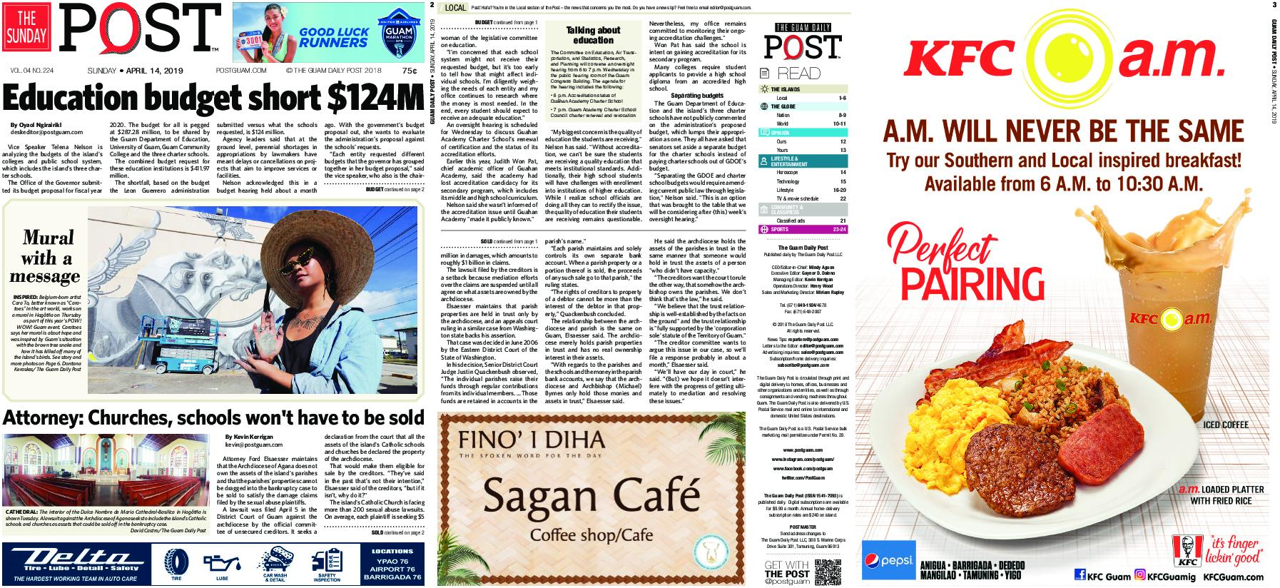 The Guam Daily Post – April 14, 2019