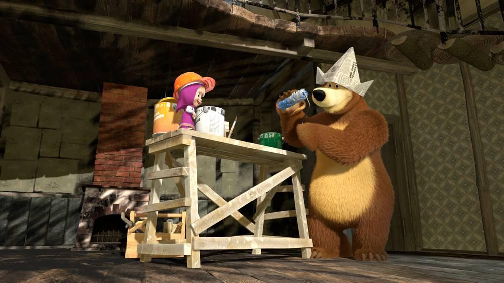 Маша и медведь картинки с днем строителя
