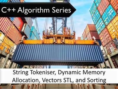 C++ Algorithm Series: String Tokeniser, Dynamic Memory Allocation, Vectors STL, and Sorting Algorithms