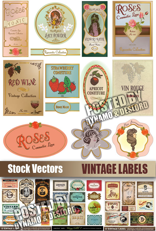 Vintage Labels - Stock Vectors