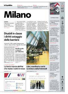 la Repubblica Milano - 12 Maggio 2018
