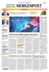 Solinger Morgenpost – 18. Dezember 2019