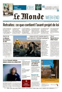 Le Monde du Samedi 11 Janvier 2020