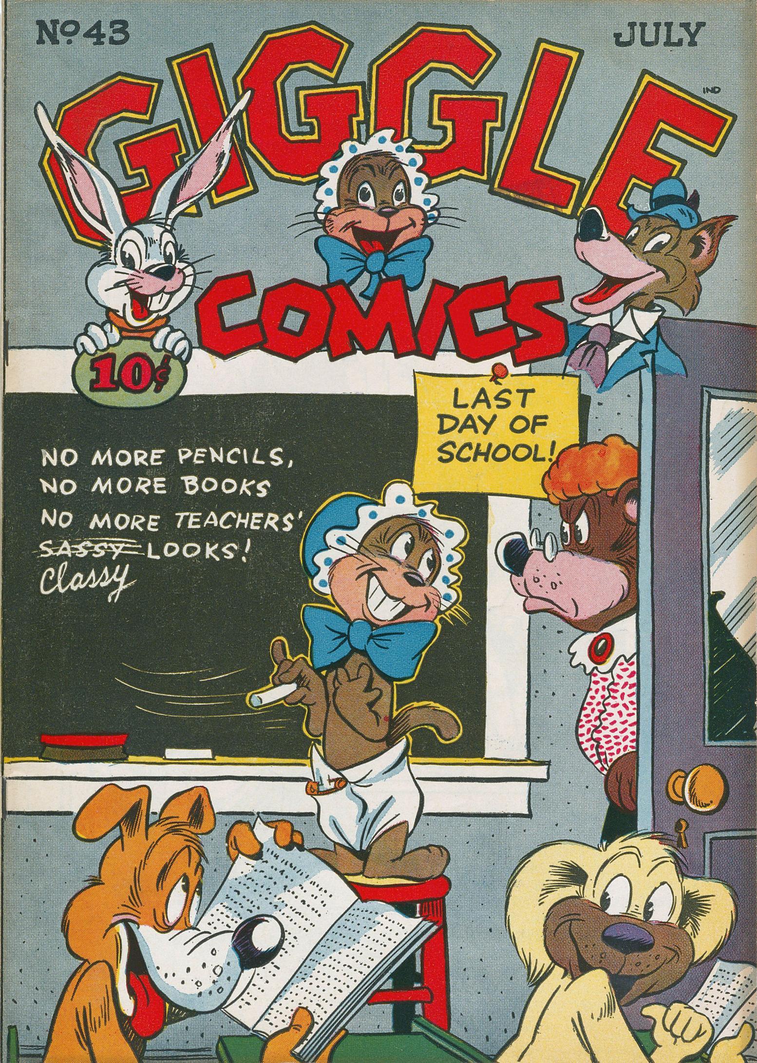 Giggle Comics 043 ACG Jul 1947 c2c titansfan+Conan the Librarian