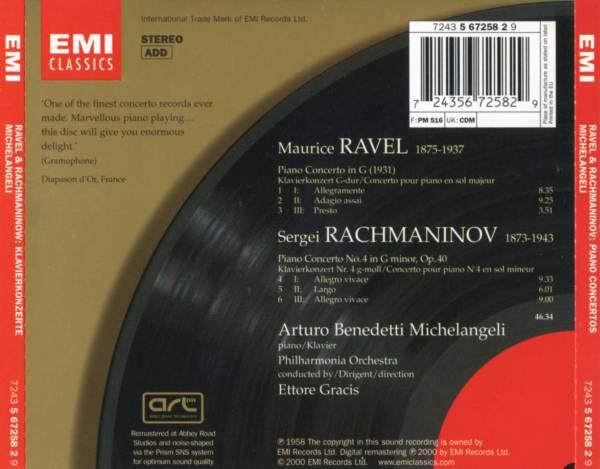 Arturo Benedetti Michelangeli - Ravel & Rachmaninov: Piano Concertos (1958/2000) {EMI}