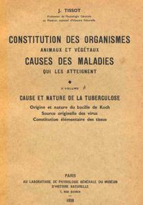 Constitution des organismes causes des maladies