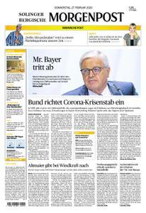 Solinger Morgenpost – 27. Februar 2020