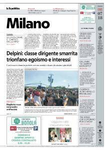 la Repubblica Milano - 8 Luglio 2018