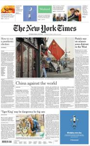 International New York Times - 18-19 April 2020