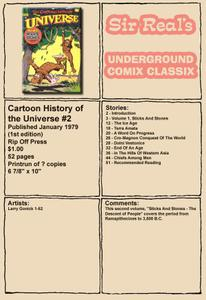 Cartoon History of the Universe 02 1st Edition 1979 Rip Off Press Sir Real