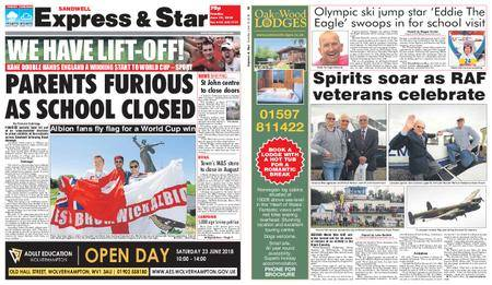 Express and Star Sandwell Edition – June 19, 2018