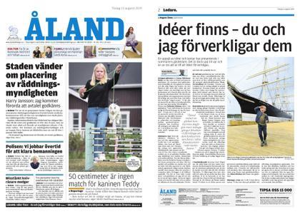 Ålandstidningen – 13 augusti 2019