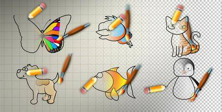 Animal Cartoon Paint - Project for After Effects (VideoHive)