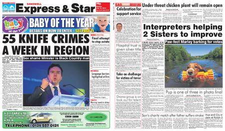 Express and Star Sandwell Edition – July 16, 2018