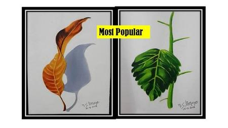 How To Paint Hyper Realistics Oil Painting of Leafs