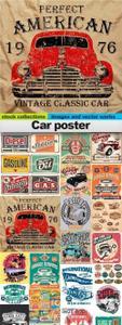 Car poster Vectors