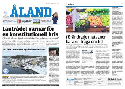 Ålandstidningen – 24 januari 2019