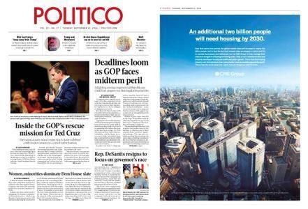 Politico – September 11, 2018
