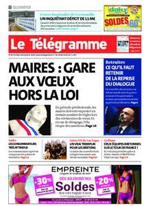 Le Télégramme Quimper – 08 janvier 2020